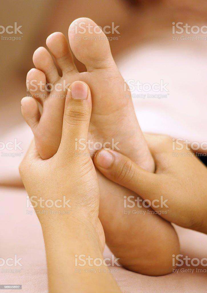 Spa foot massage stock photo