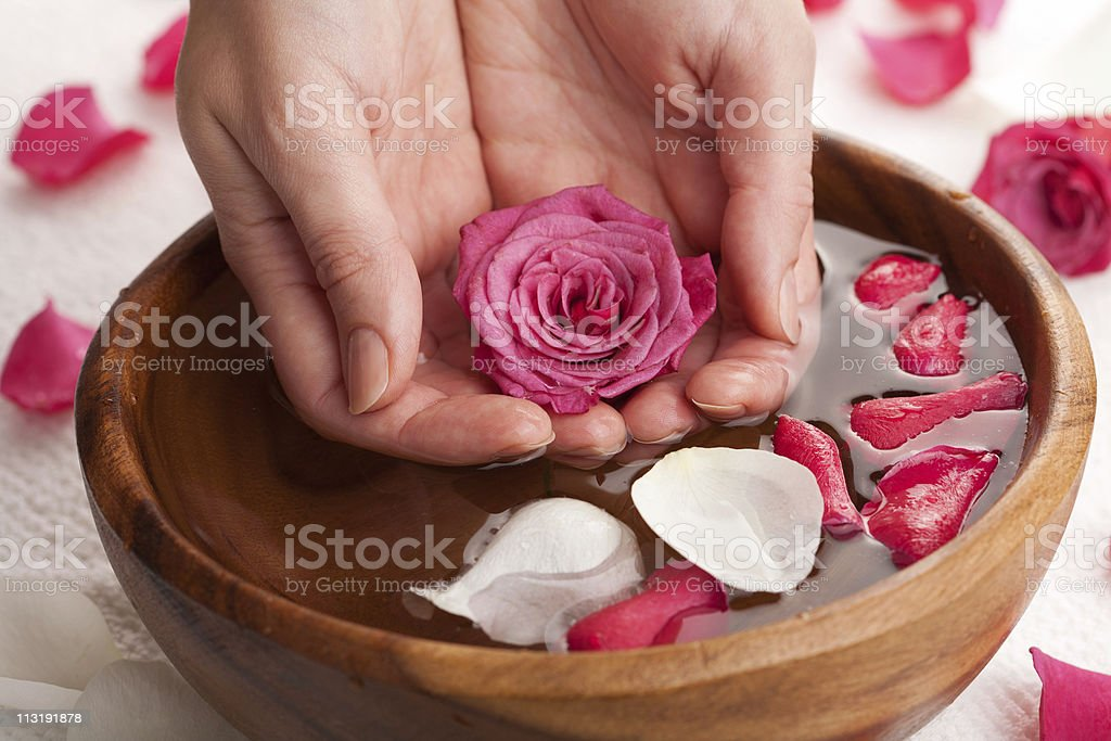spa for hands royalty-free stock photo