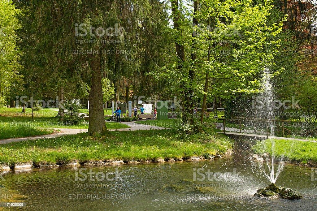 Spa garden in Bad Woerishofen stock photo