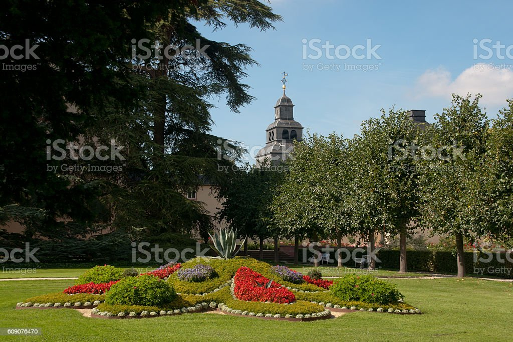 spa garden stock photo