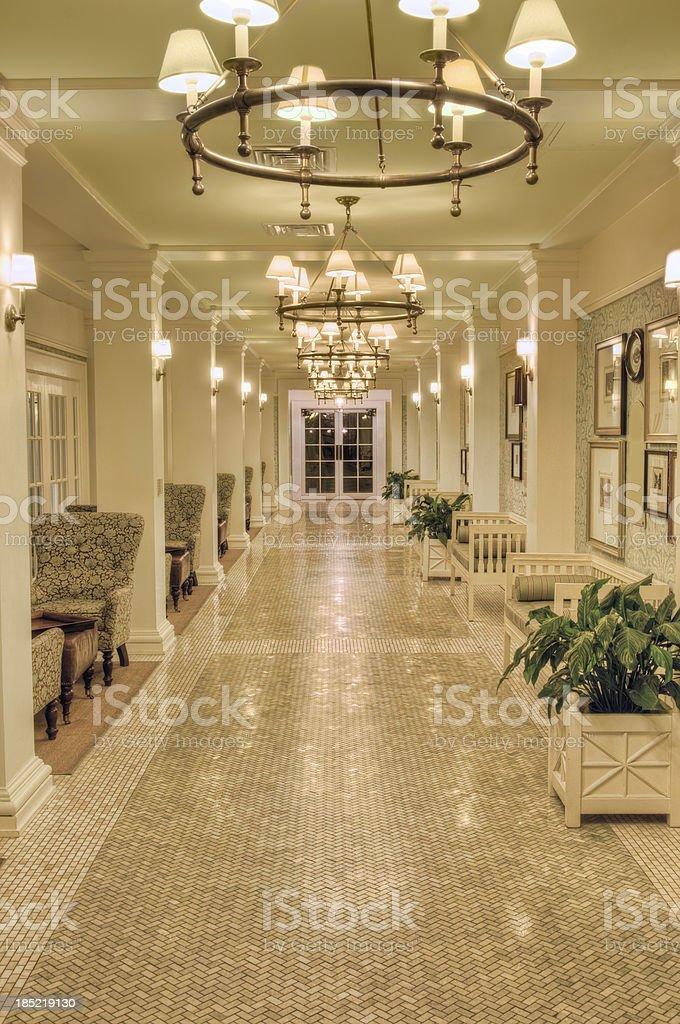 Spa hallway royalty-free stock photo