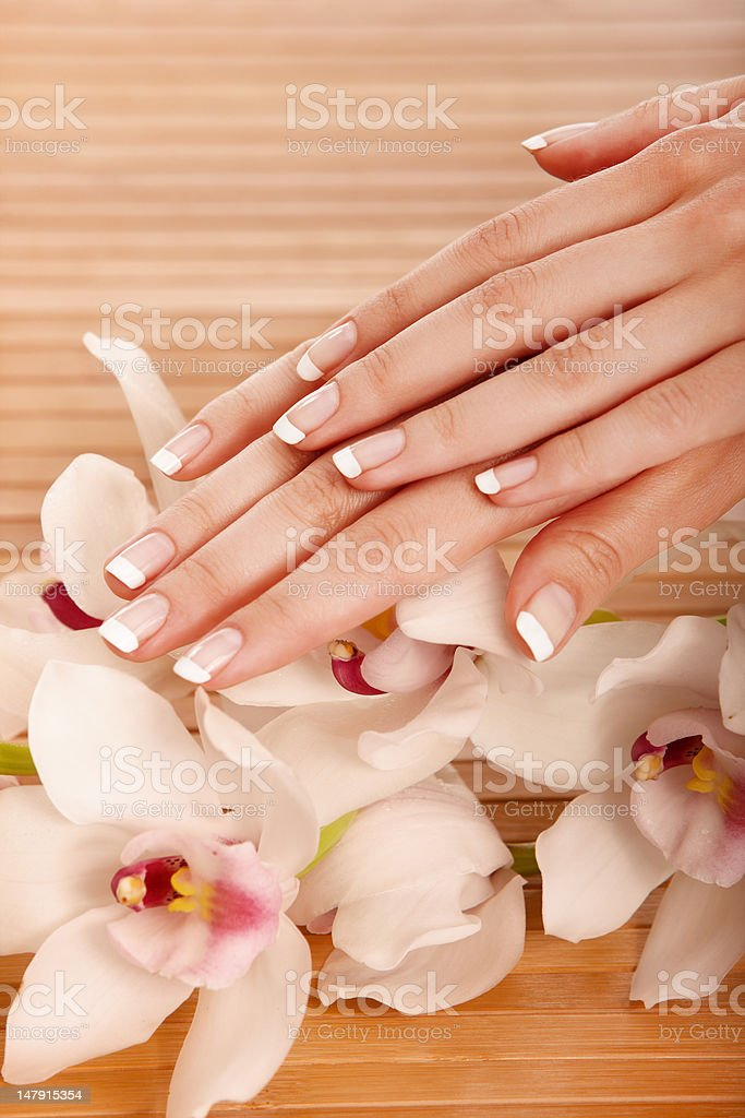 Spa hands royalty-free stock photo