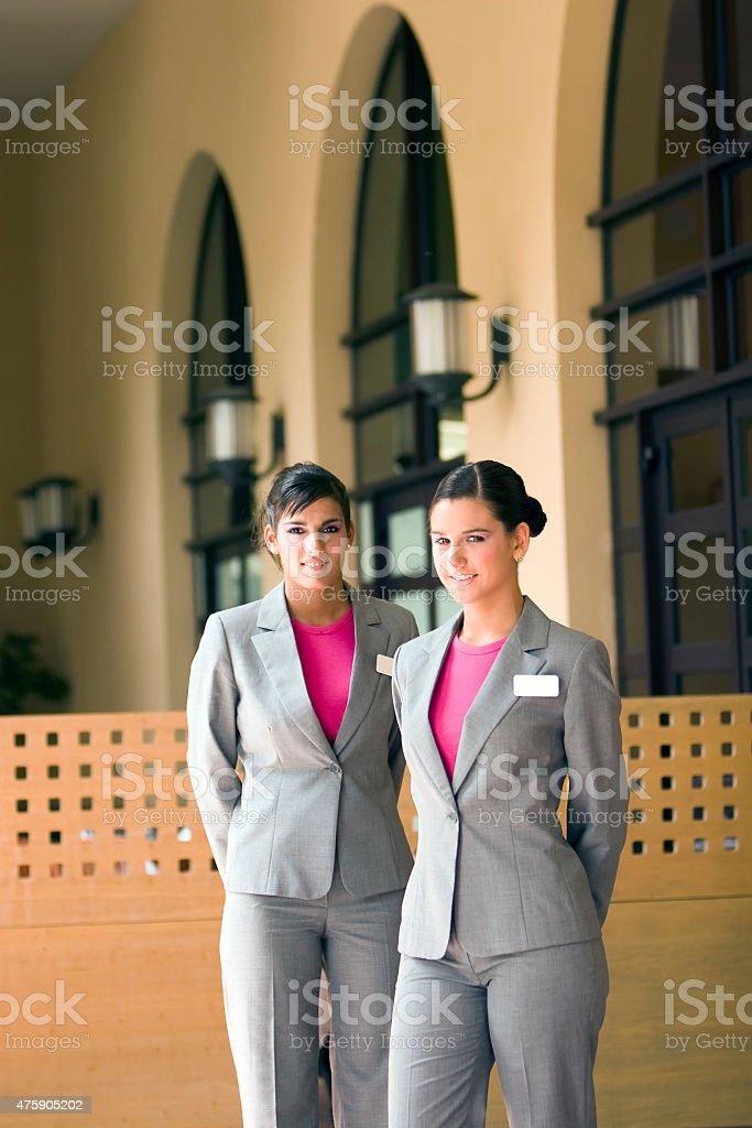 Spa Hostess stock photo