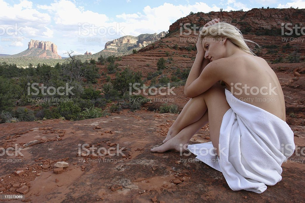 spa in nature royalty-free stock photo