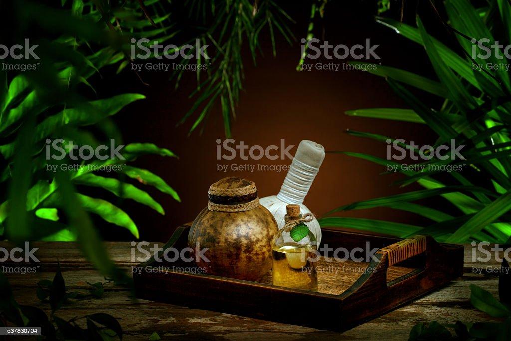 spa items stock photo