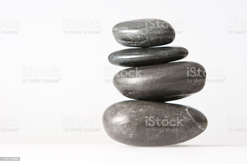 spa lastone therapy pebbles stack isolated on white royalty-free stock photo
