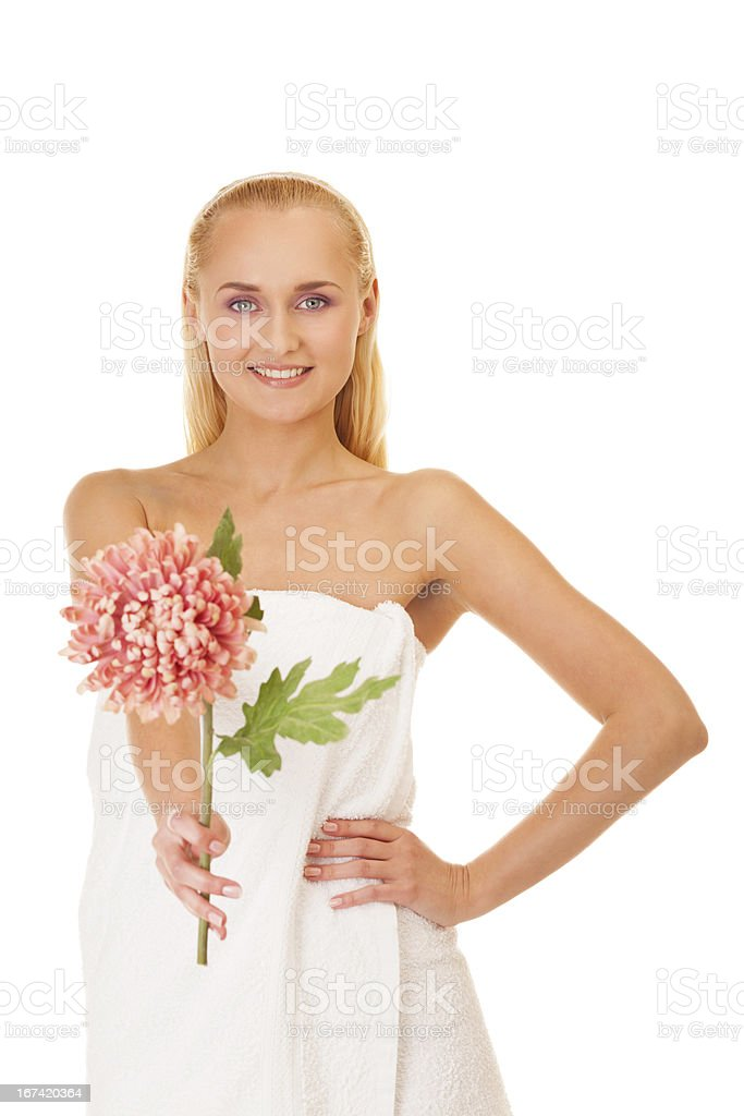 Spa makes you look like a flower royalty-free stock photo