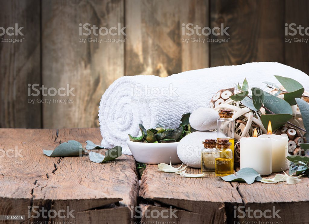 spa massage stock photo
