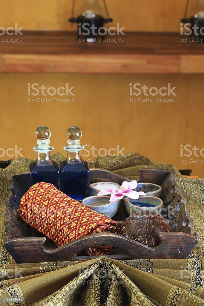Spa massage setting stock photo