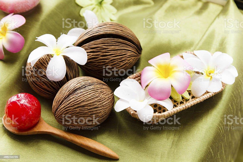 Spa massage setting royalty-free stock photo