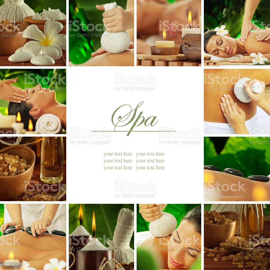 spa mix stock photo