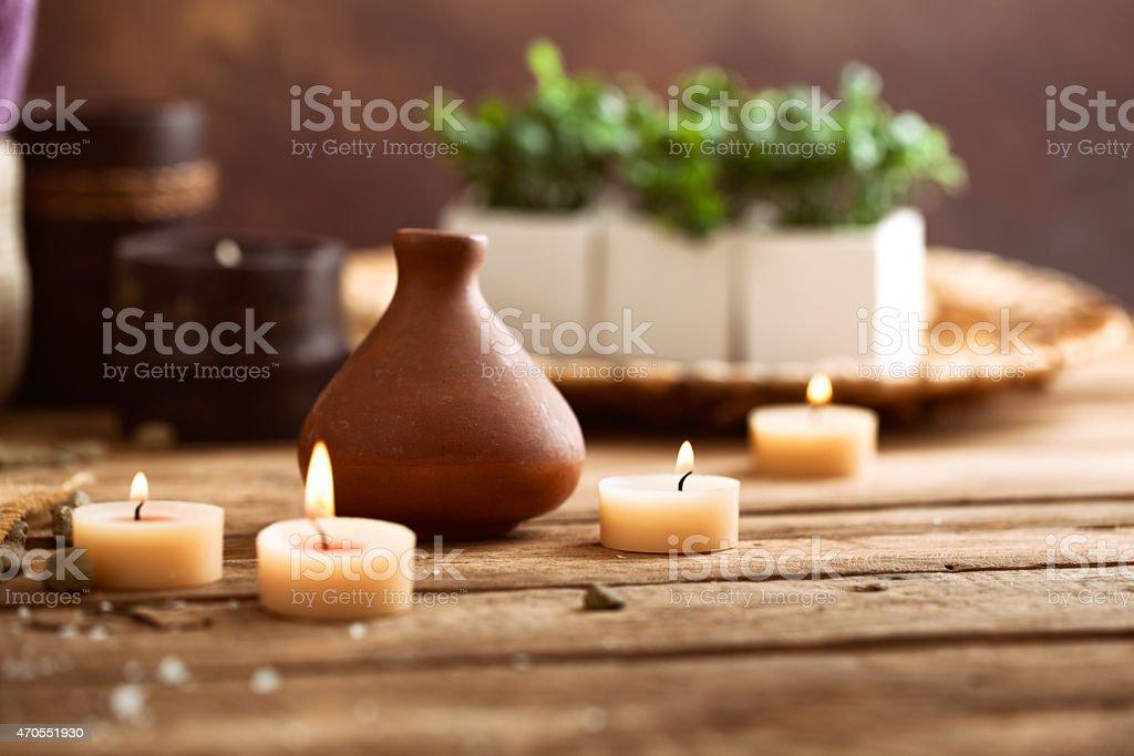Spa natural setting stock photo
