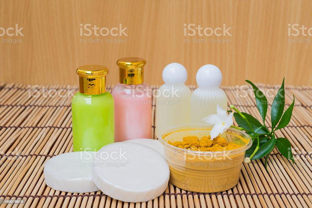 Spa on wood background stock photo