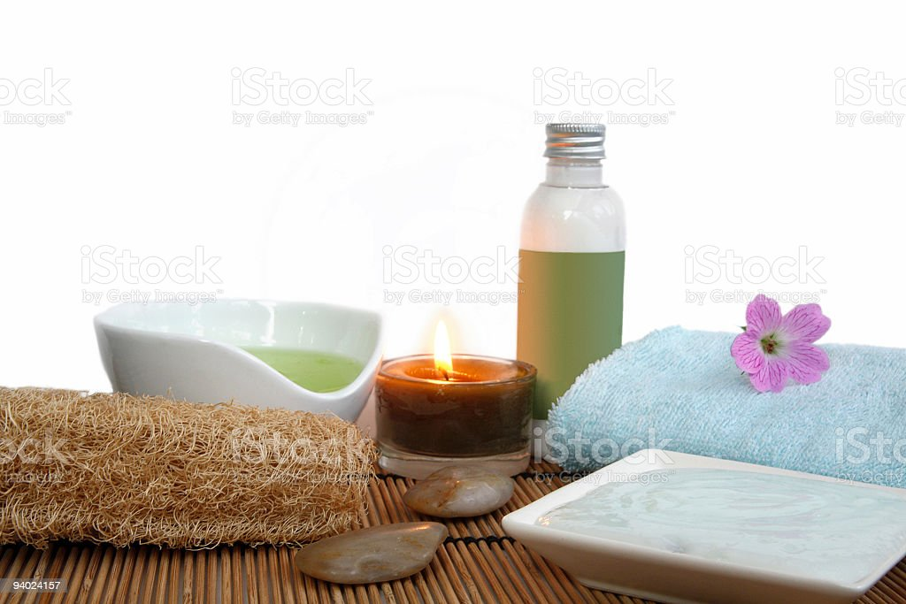 Spa pampering stock photo