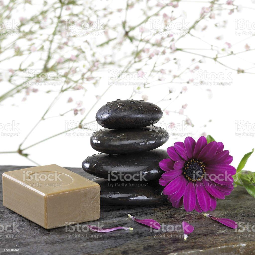 Spa pebbles royalty-free stock photo