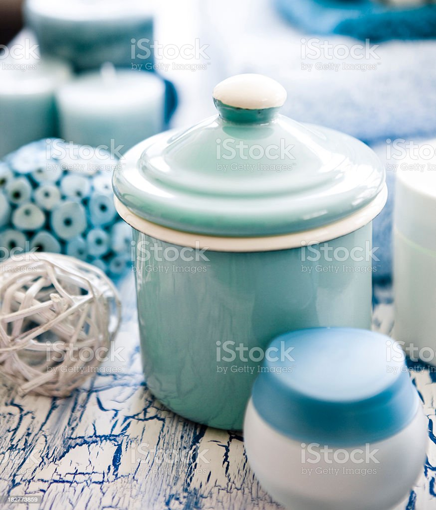 Spa products and moisturizers stock photo