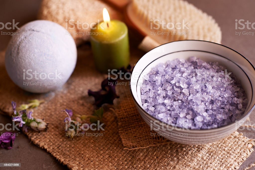 Spa products giving you the come hither look stock photo