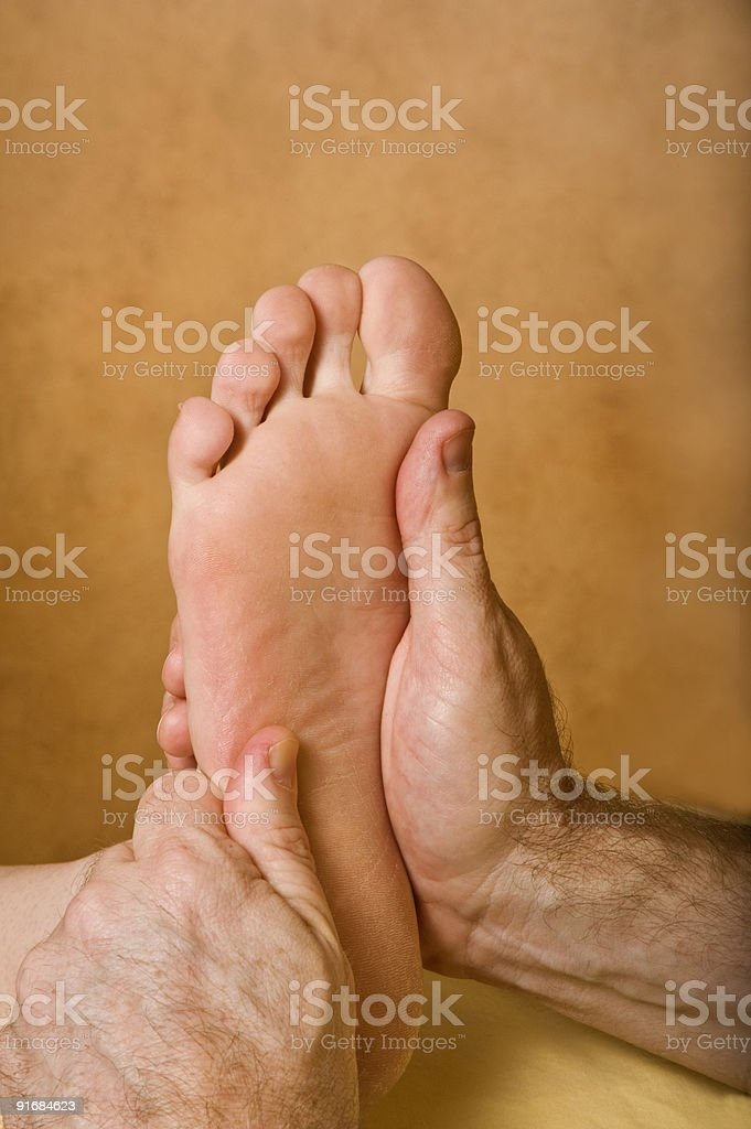 Spa Reflexology Foot Massage royalty-free stock photo