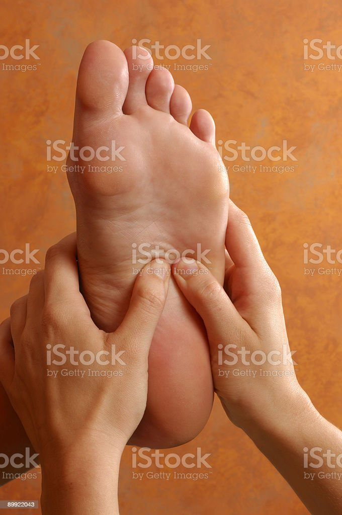 Spa Reflexology Foot Massage Treatment royalty-free stock photo