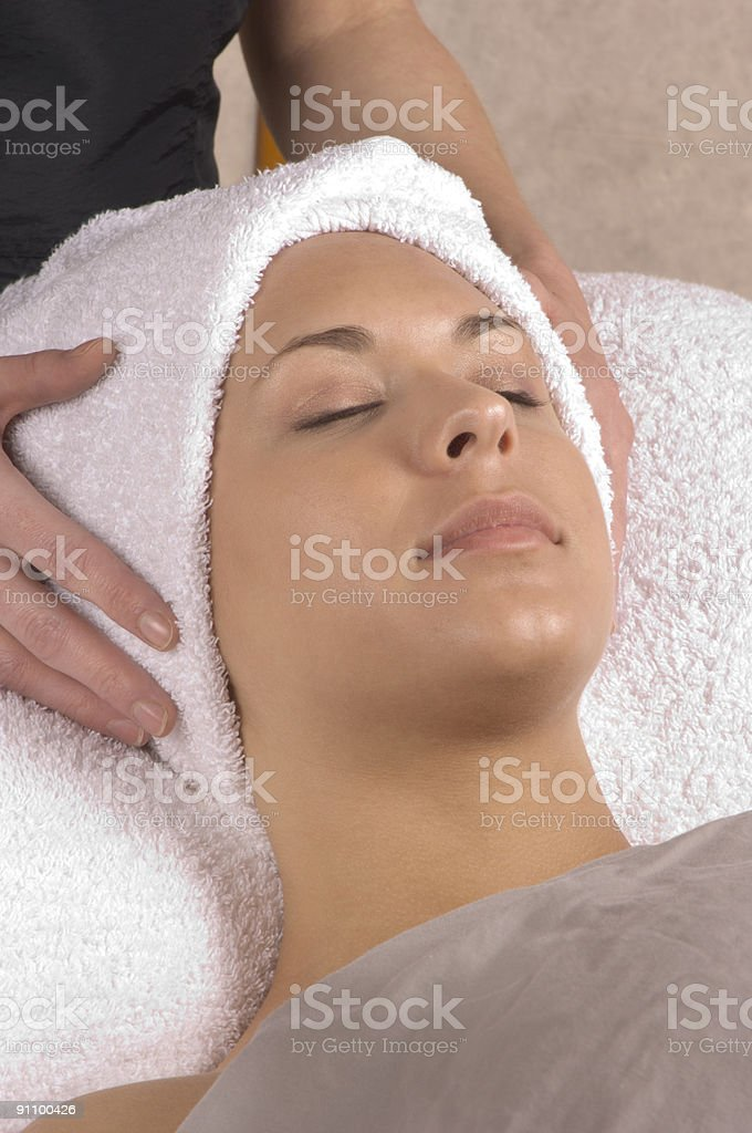 Spa Relaxation Hands On royalty-free stock photo
