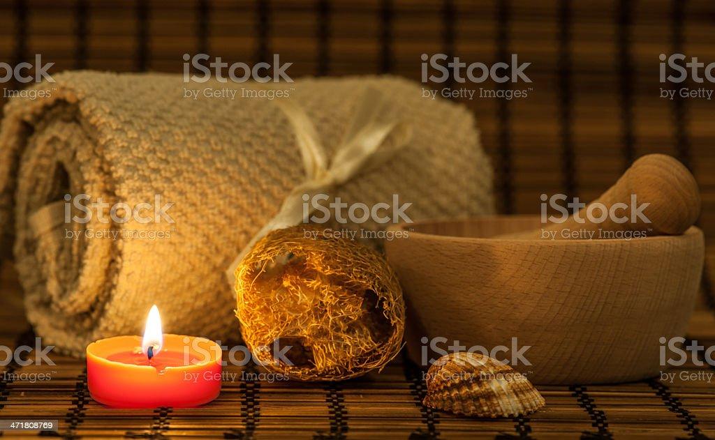 Spa relaxation set royalty-free stock photo