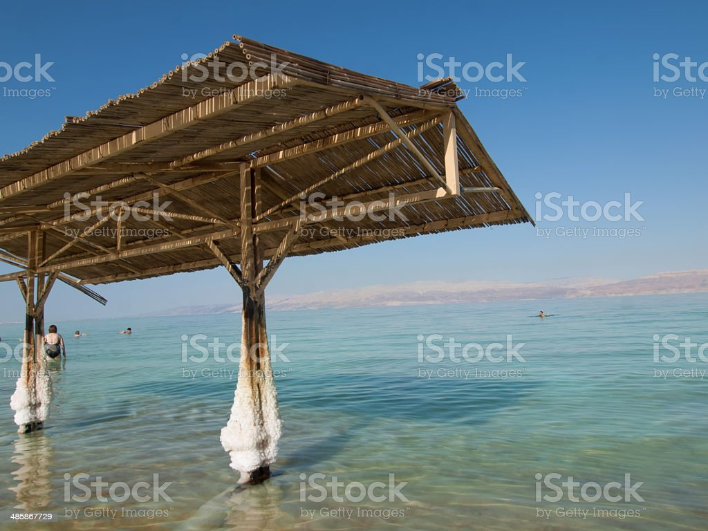 spa resort of the Dead Sea at Ein Gedi, Israel. stock photo