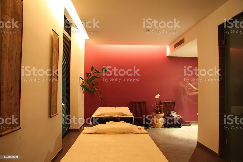 Spa room stock photo