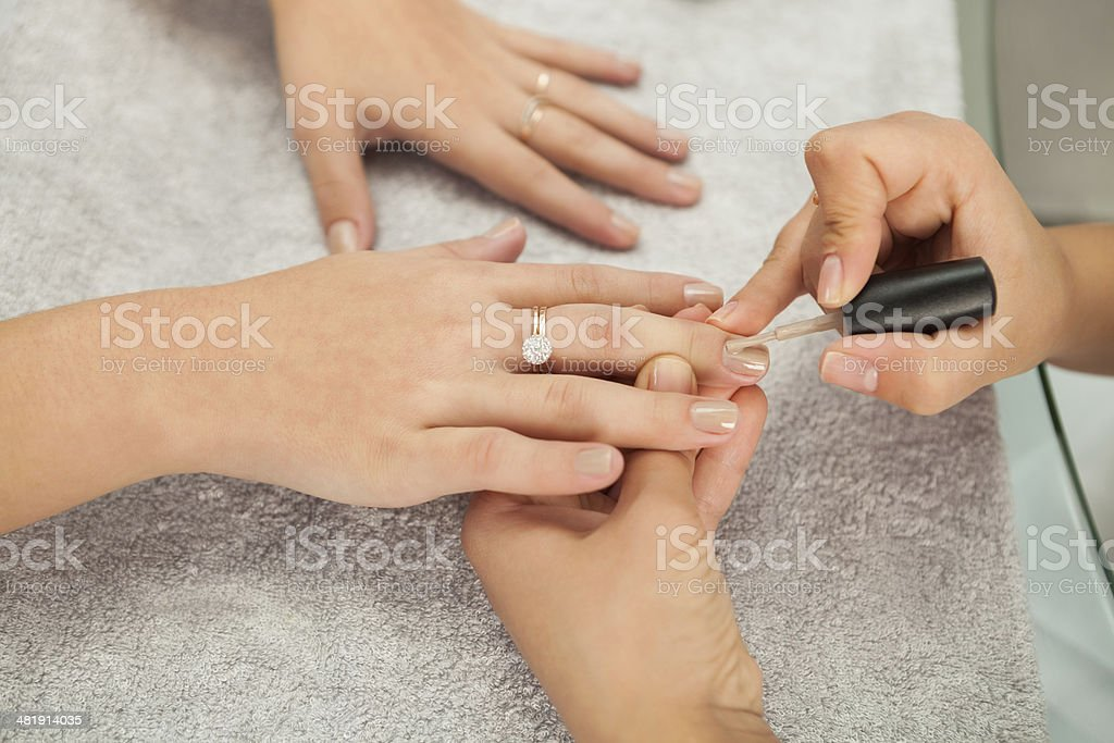 Spa salon. Manicure. royalty-free stock photo