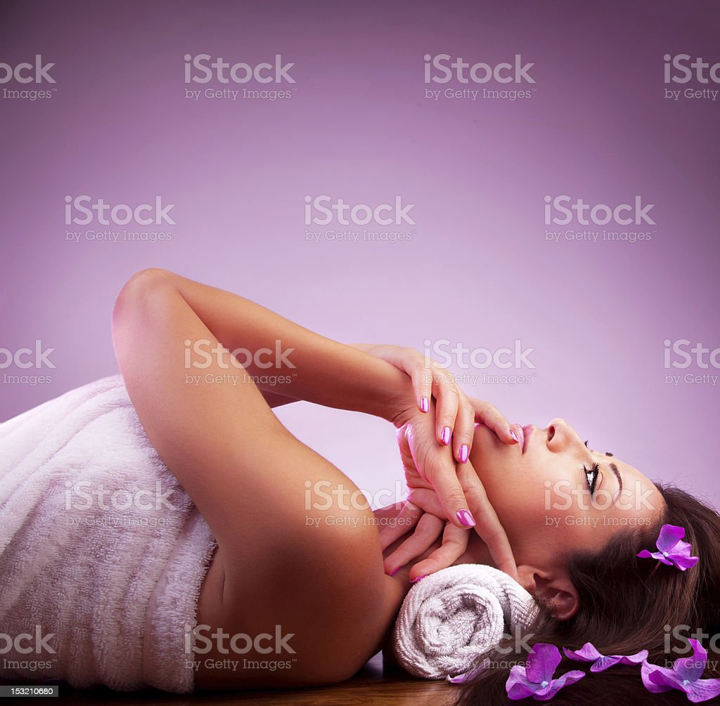 Spa salon to pamper the beautiful women within all of us  royalty-free stock photo
