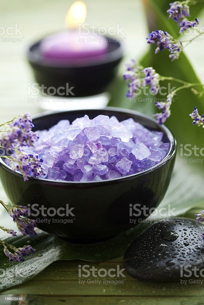 spa salt royalty-free stock photo