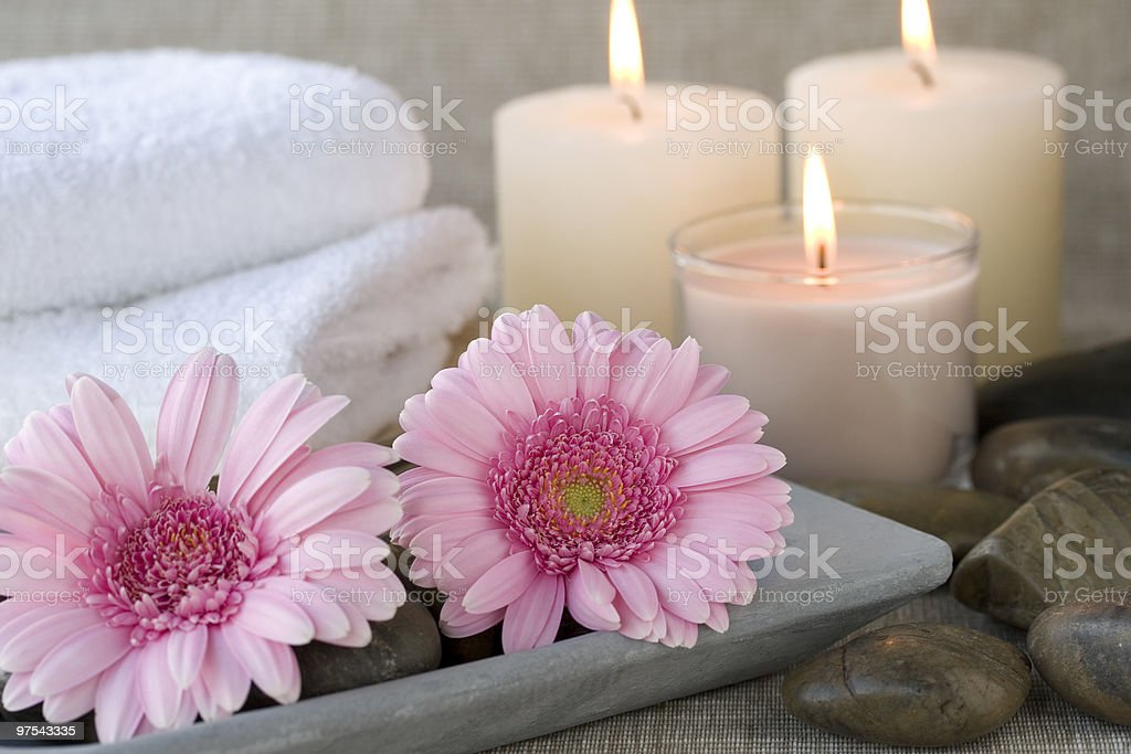 Spa scene stock photo