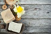 Spa set with handmade soap