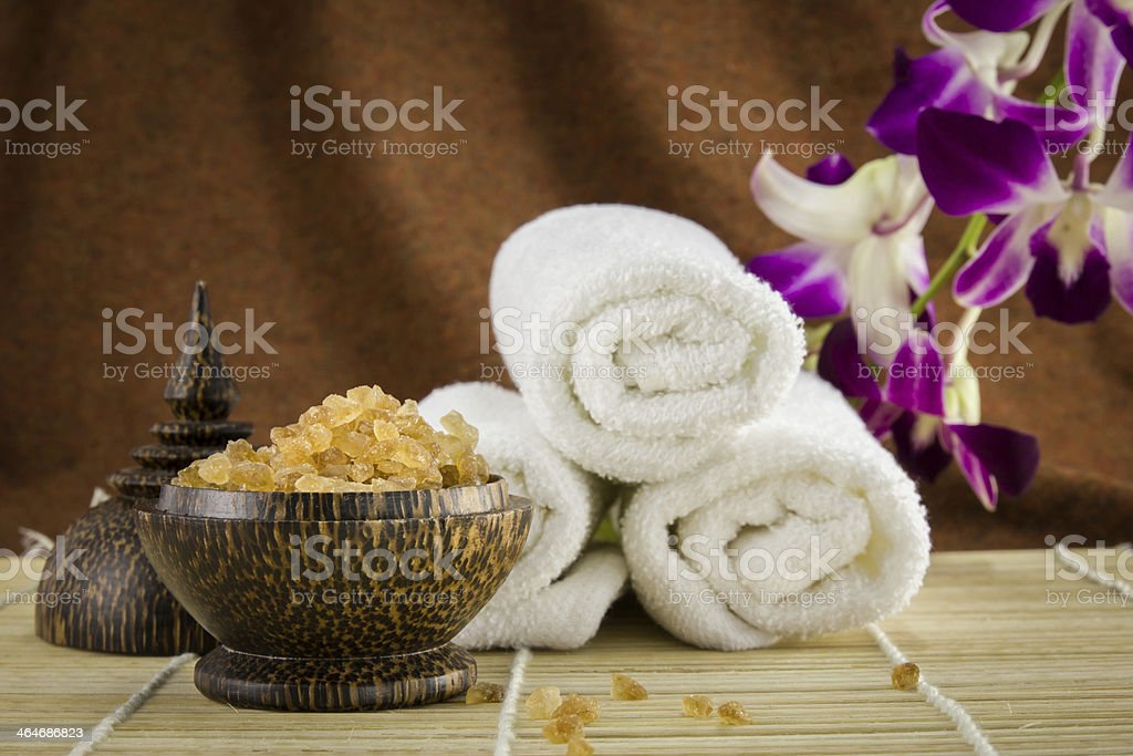 Spa setting for skin care royalty-free stock photo