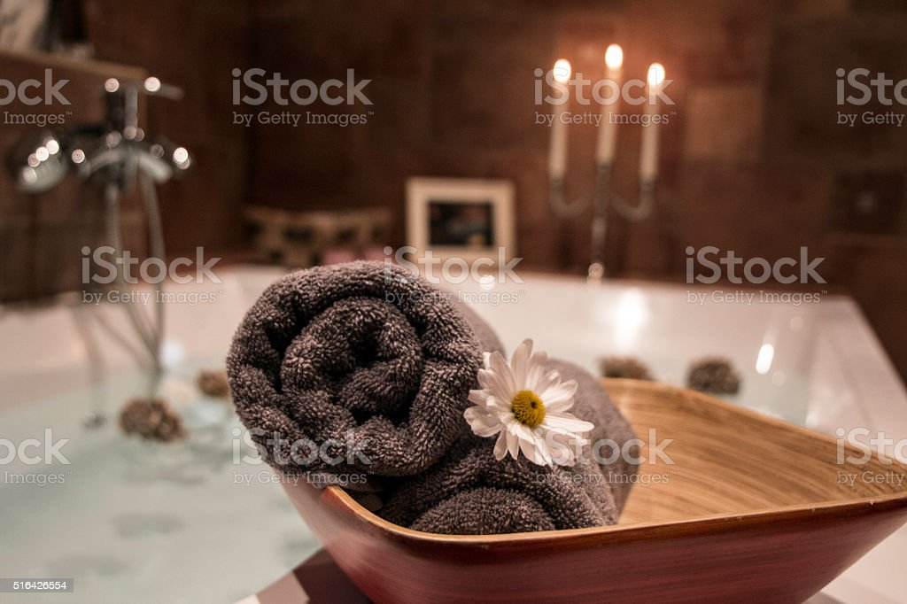 Spa setting stock photo