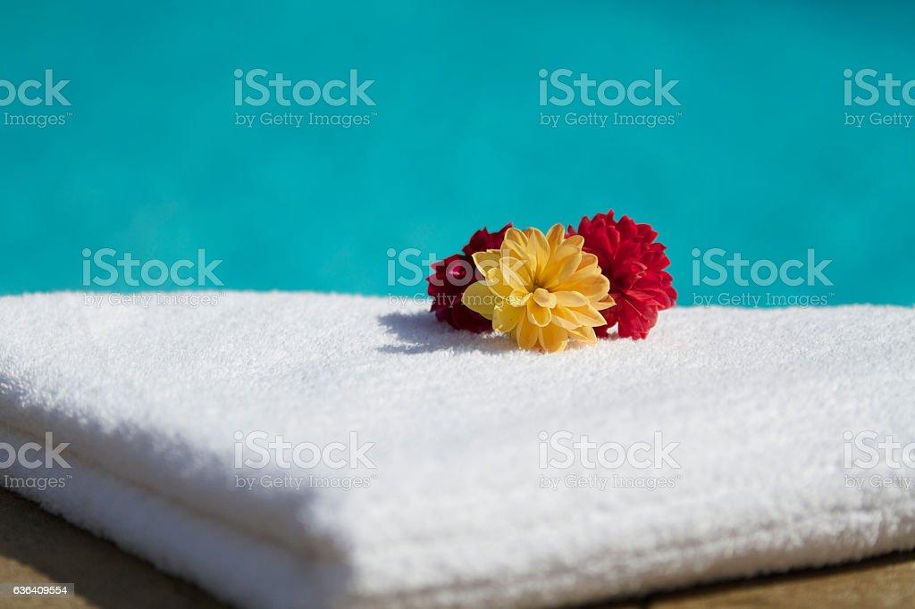 Spa Setting stock photo