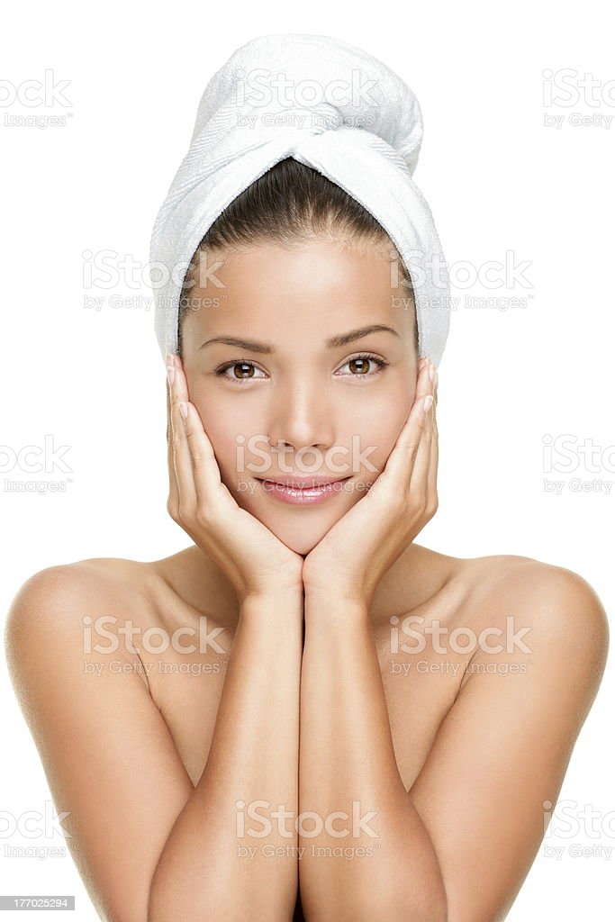 Spa skin care beauty woman stock photo