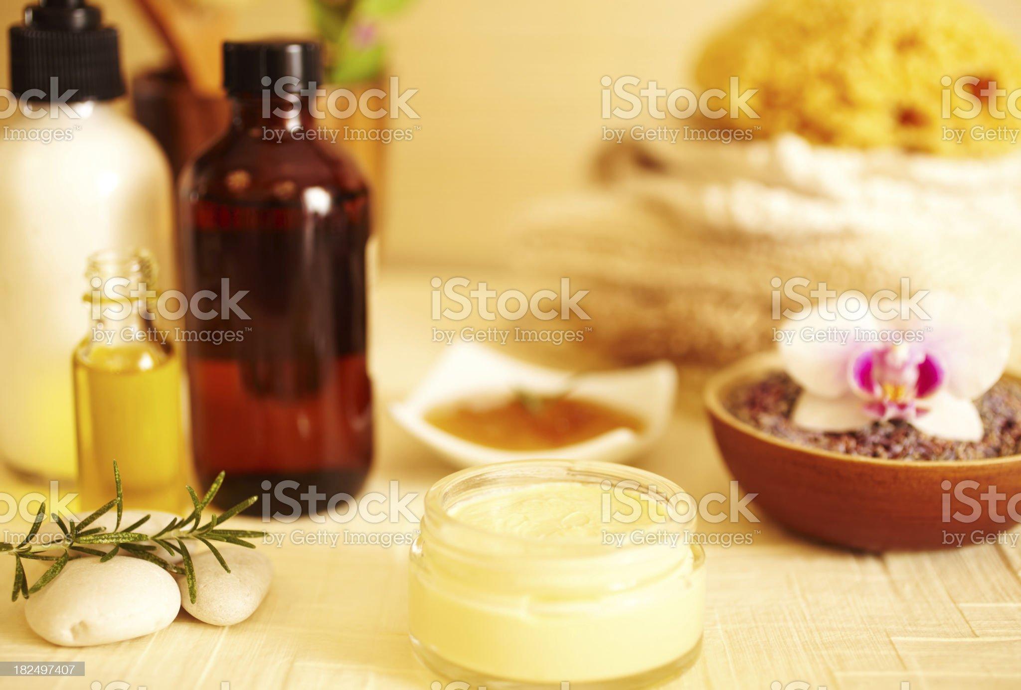 Spa still life of moisturizer royalty-free stock photo