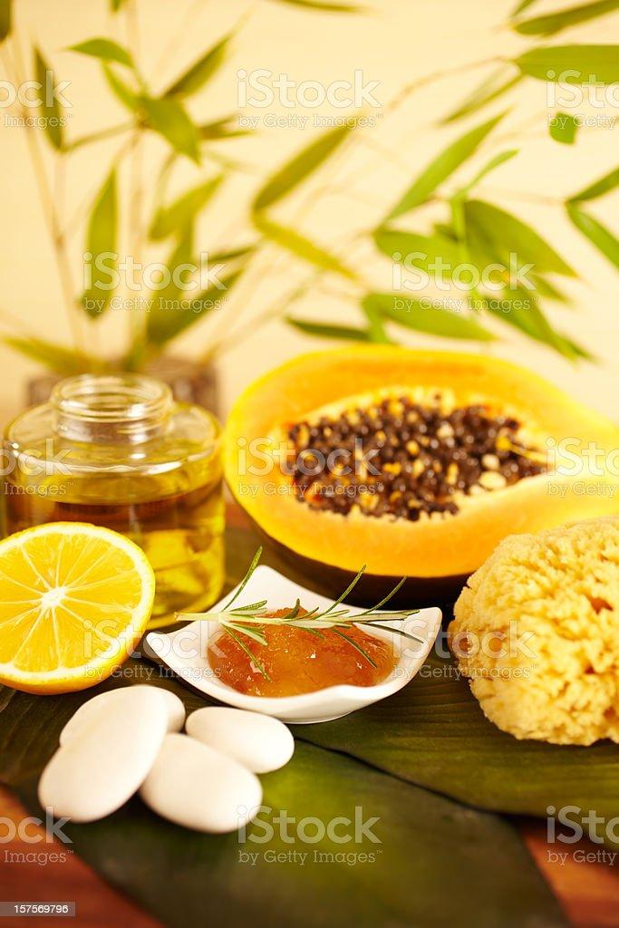 Spa still life of organic skincare royalty-free stock photo