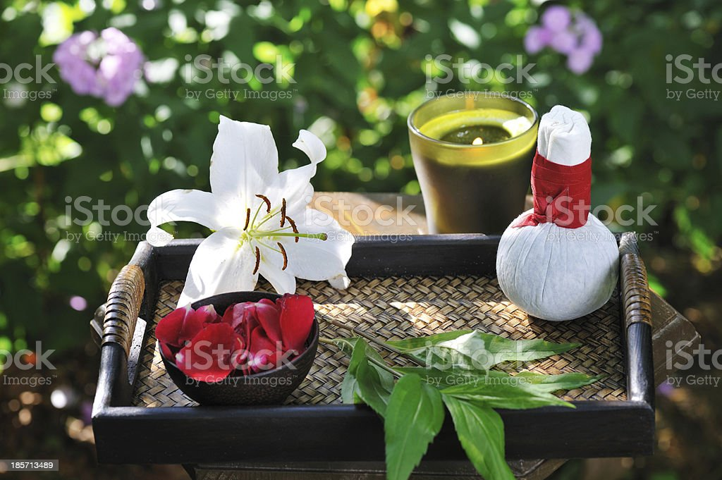 spa still life with lily royalty-free stock photo
