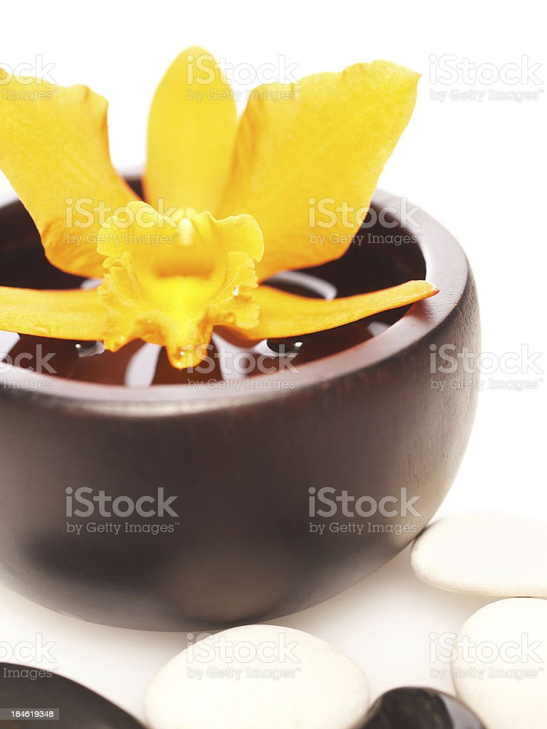 Spa still life with orchid stock photo