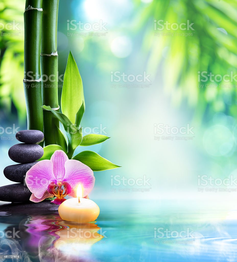 spa still life - zen concept in nature stock photo