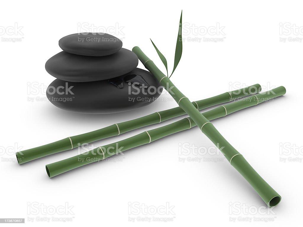 Spa - Stone and Bamboo royalty-free stock photo