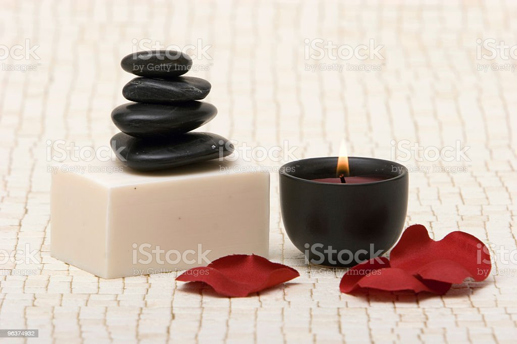 Spa stones and soap royalty-free stock photo