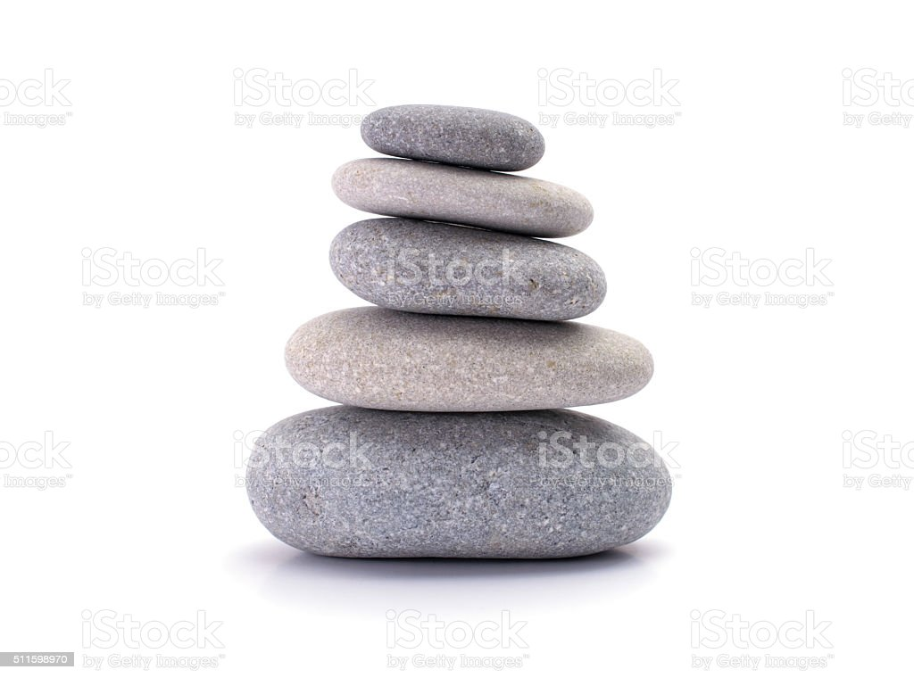 spa stones stock photo
