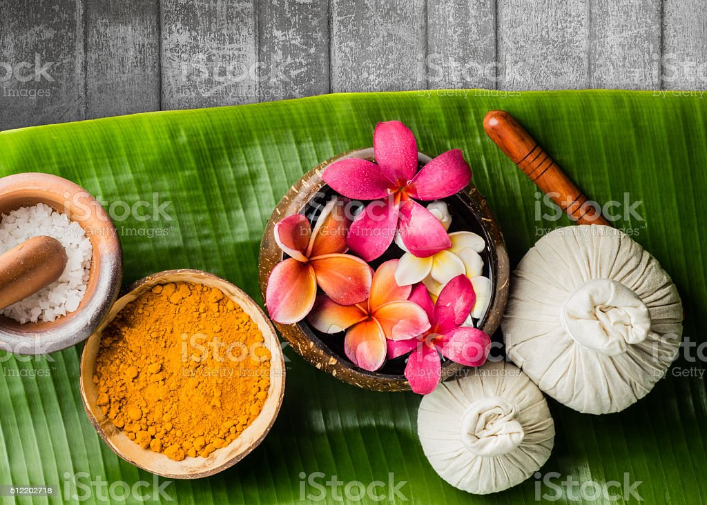 Spa theme objects stock photo