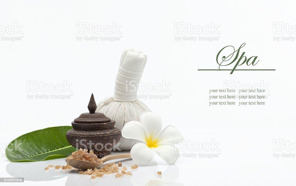 spa things on white stock photo