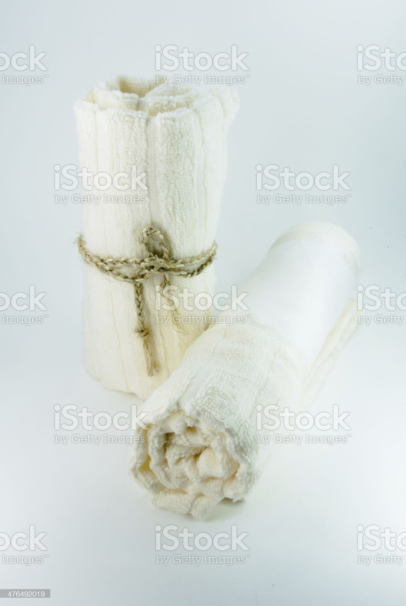 spa towels pile isolated royalty-free stock photo