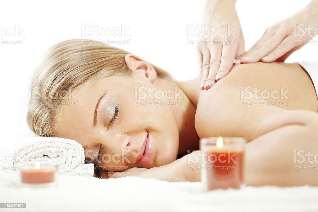 Spa treatment and massage royalty-free stock photo