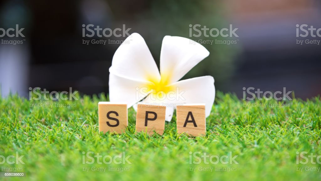 Spa treatment and massage, Thailand, soft and select focus stock photo