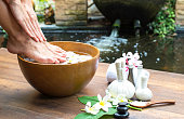 Spa treatment and product for female feet